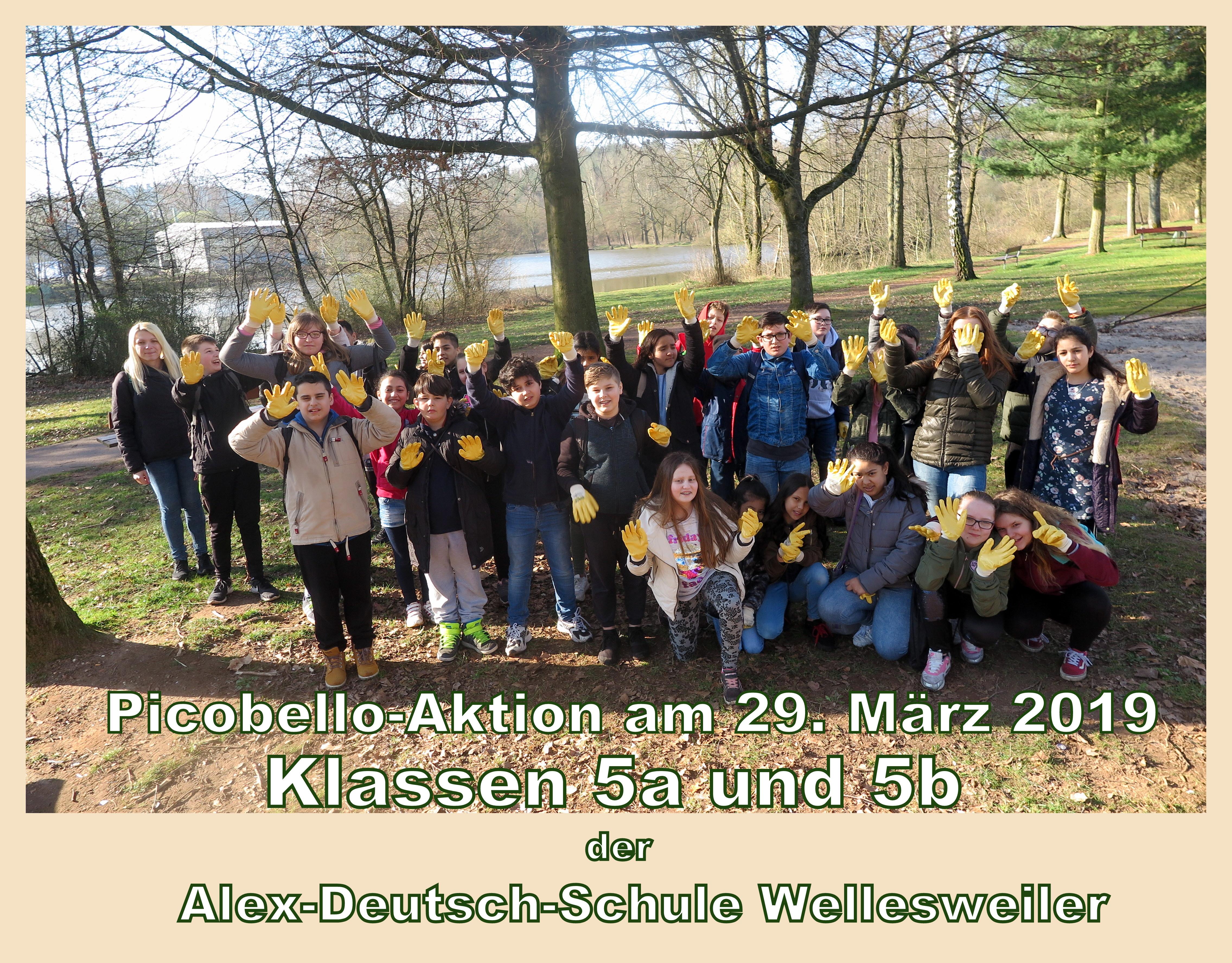 Picobello 2019 auch bei der Alex-Deutsch-Schule