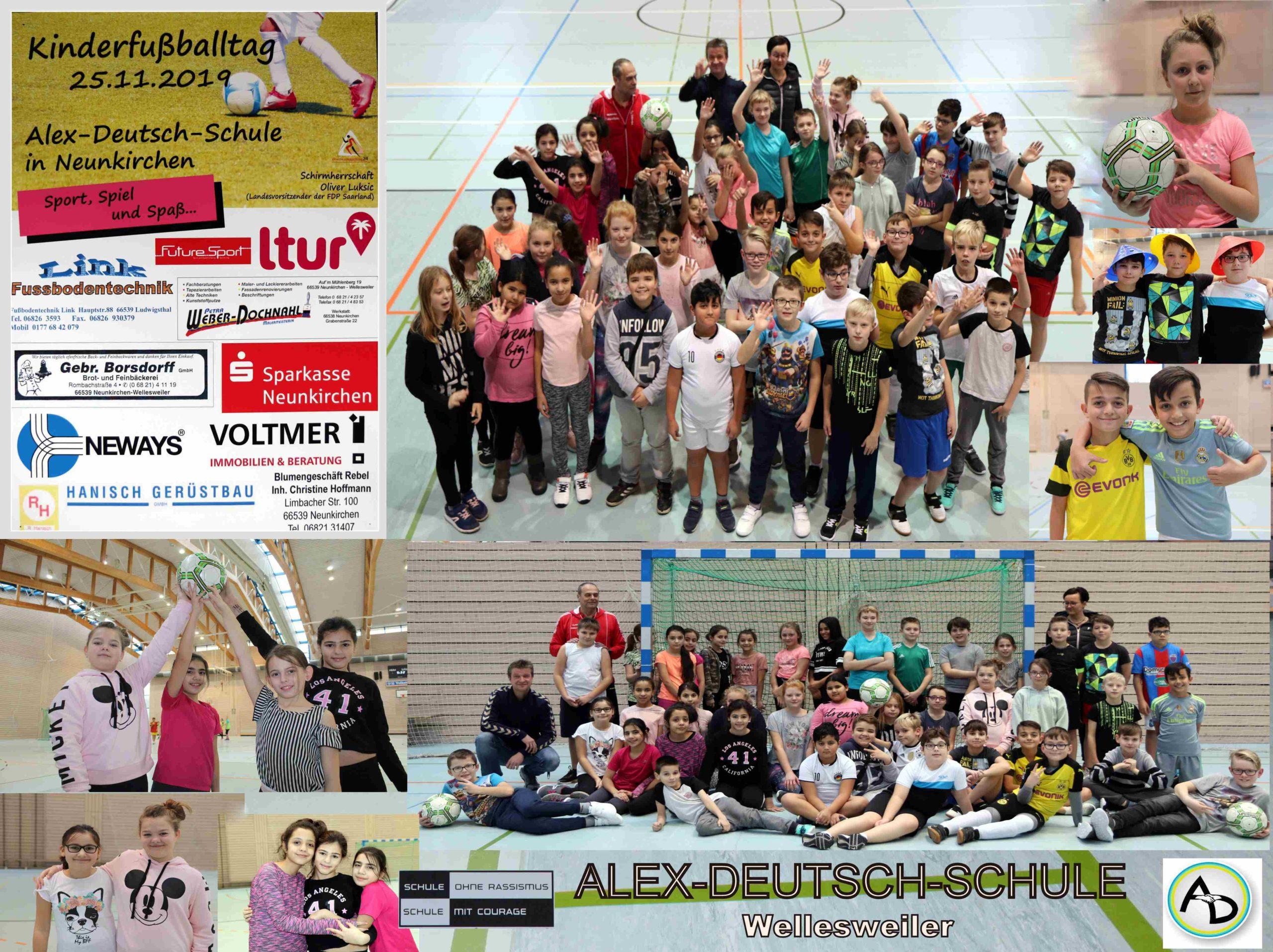 Vormittags regierte das runde Leder – 8. Kinder-Fußballtag an der Alex-Deutsch-Schule