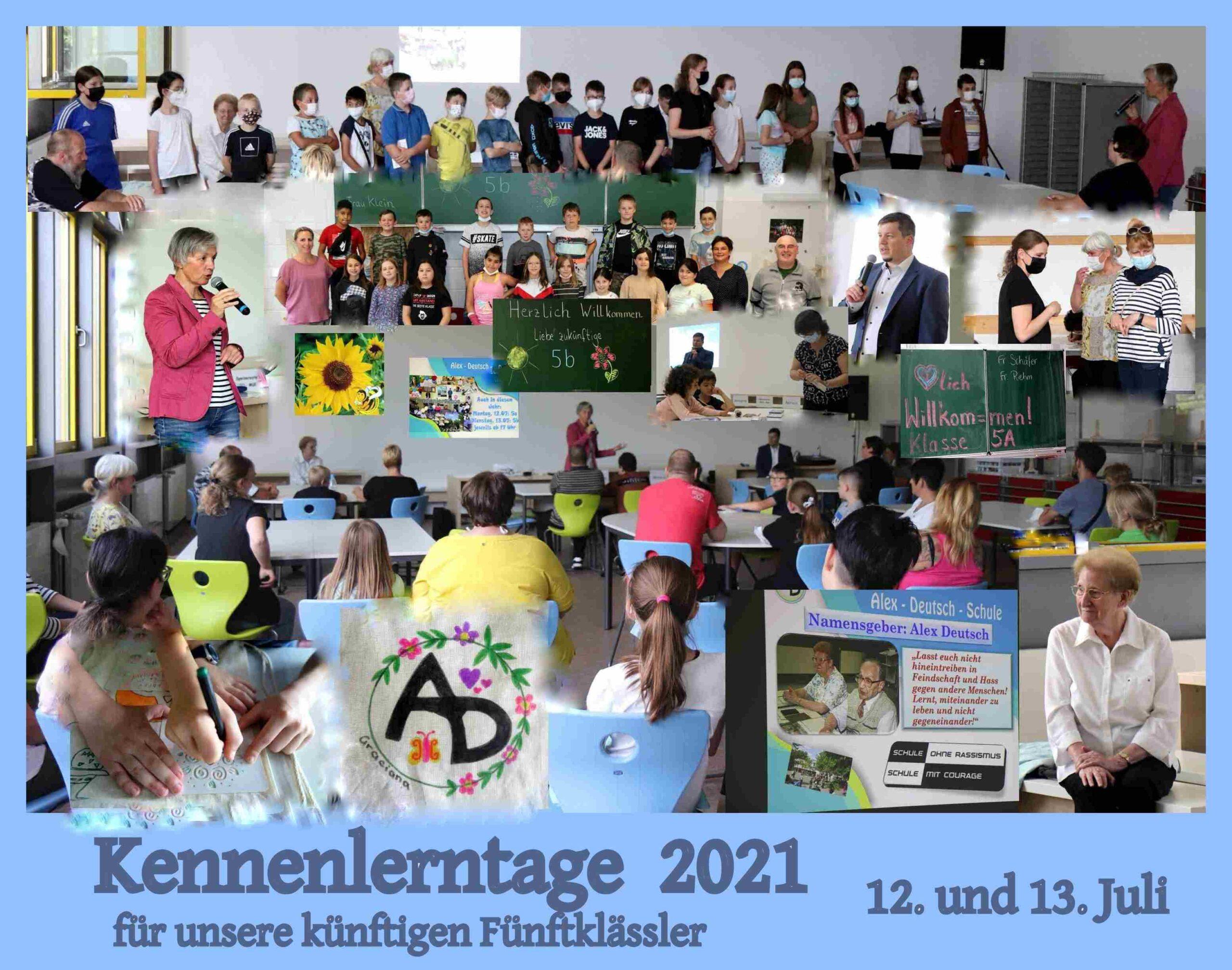 Kennenlerntage 2021 an der Alex-Deutsch-Schule