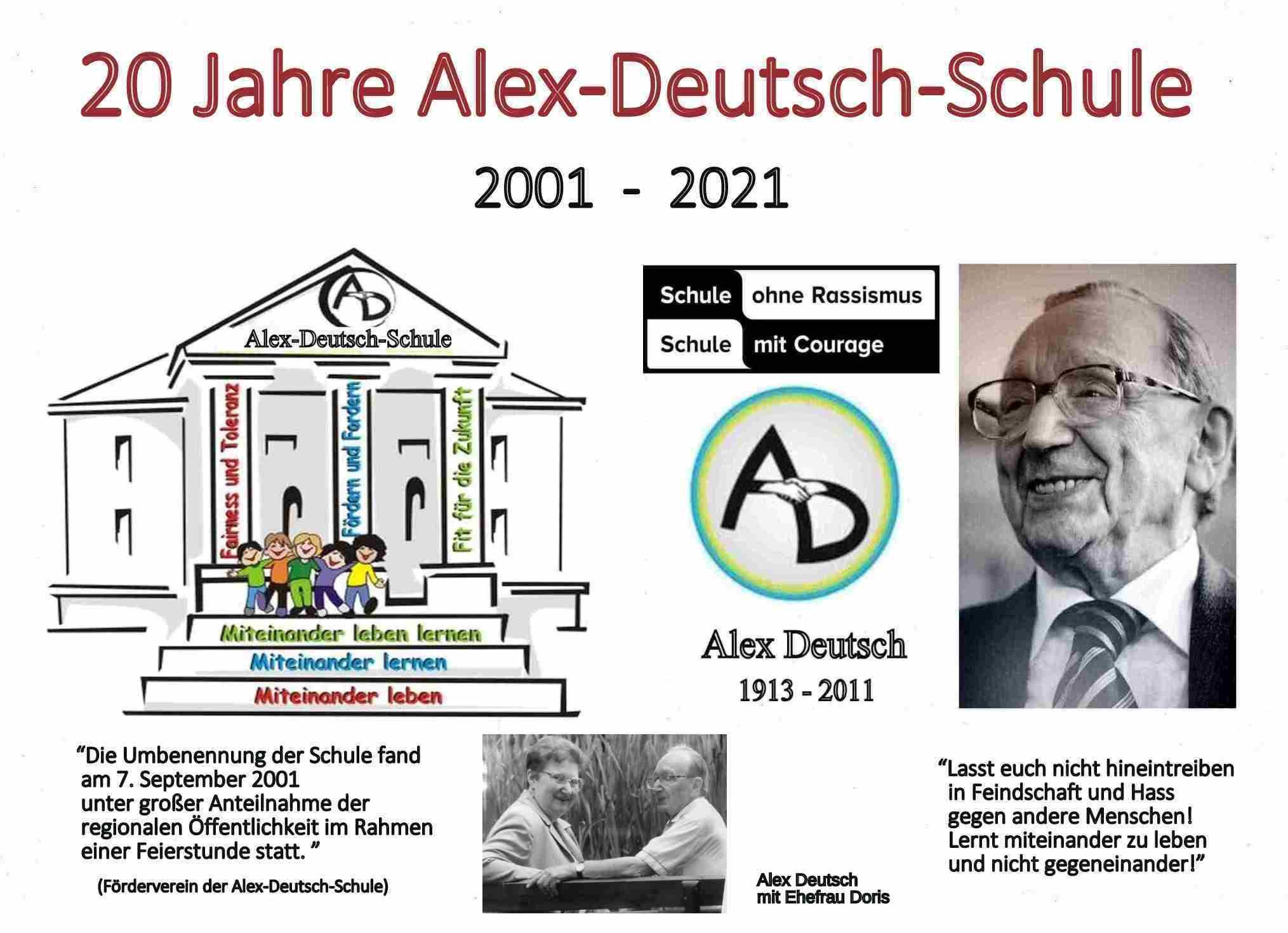 Die Namenswahl erwies sich als Glücksfall – 20 Jahre Alex-Deutsch-Schule Wellesweiler